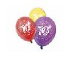8 palloncini in lattice per compleanno 70 anni