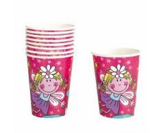 8 Bicchieri Fata rosa