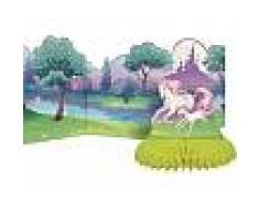 Centrotavola in cartoncino con unicorni