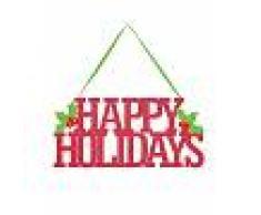 Decorazione per porta natalizia Happy Holidays