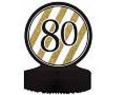 Centrotavola 80 anni nero e oro