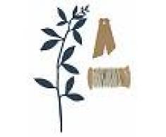 6 Segnaposto con foglie blu e etichette kraft