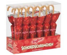 """Ombrellini di Cioccolata """"Rosso Caminetto"""" - 12 pz."""