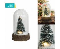 Luce decorativa LED Pallina di neve con albero di Natale