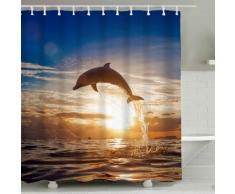 Tenda per doccia delfino