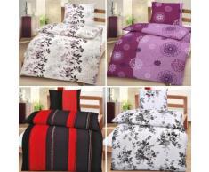 Biancheria da letto in tela crespa a strisce