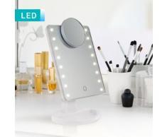 Specchio da trucchi LED con ingranditore