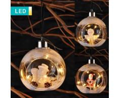 Pallina di Natale LED con decorazione integrata