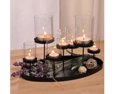 Candelabro con 7 inserti per candele scaldavivande