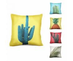 Federa per cuscino con piante esotiche