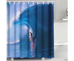 Tenda da doccia 3D Onda con surf