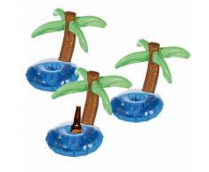 Set di 3 porta bottiglie gonfiabili a palma