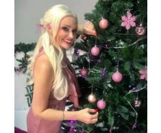 Scatola regalo con decorazioni natalizie Pink Christmas