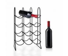 Scaffale per il vino con montanti metallici