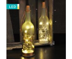 Bottiglia decorativa LED con motivi natalizi
