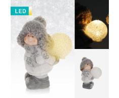 Decorazione LED folletto con pallina di Natale