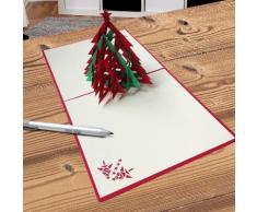 Biglietto di auguri natalizio 3D albero di Natale con stella