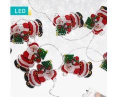 Filo di luci con Babbi Natale