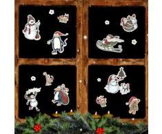 Set adesivi da finestra natalizi riutilizzabili 28 pz.