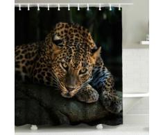 Tenda da doccia Leopardo 3D