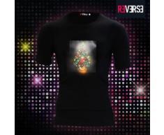T-shirt LED con stampa ad albero di Natale
