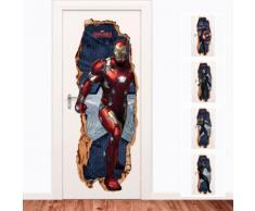 Adesivo da porta 3D The First Avenger: Civil War