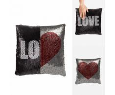 Cuscino decorativo effetto sirena Love & Cuore