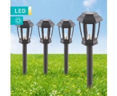 Set di 4 lampade solari LED a lanterna