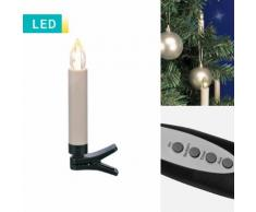10 candele di Natale a LED senza cavo in/outdoor