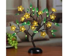 Bonsai LED con fiori gialli & foglie