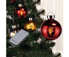Set di 3 palline di Natale LED