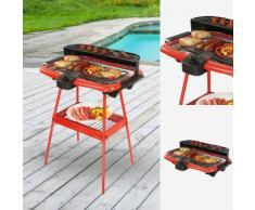 Barbecue elettrico 2 in 1 rosso