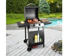 Barbecue a gas a ruote