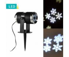 Proiettore luci di Natale da esterno e interno LED fiocchi di neve