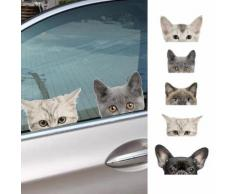 Adesivo da finestra 3D con animali da compagnia