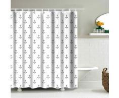 Tenda da doccia con stampa ad ancore allover