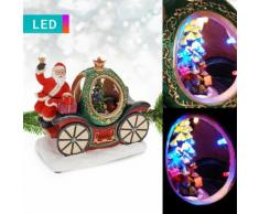 Decorazione a LED con carrozza di Natale & Babbo Natale