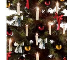 Set di 10 candele LED per l'albero di Natale