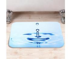 Tappetino da bagno con gocce d'acqua