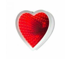 Luce da specchio LED a cuore