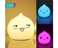 Luce notturna LED Faccina a goccia