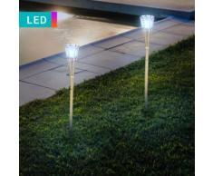 Set di 2 lampade LED a torcia