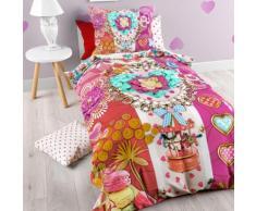 Biancheria da letto jersey con fiori & giostra