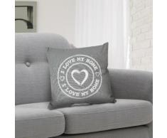 Cuscino decorativo grigio I Love My Home