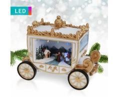 Decorazione a LED con carrozza di Natale