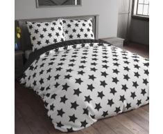 Biancheria da letto reversibile con stampa a stelle