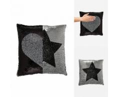 Cuscino decorativo effetto sirena Stelle & cuore