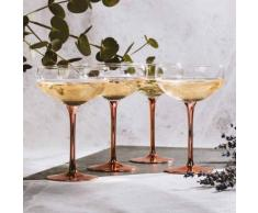 Set di 4 coppe da champagne vintage