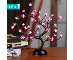 Bonsai LED con fiori rosa