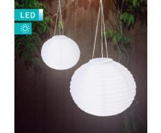 Set di 2 lampade solari LED a lanterna